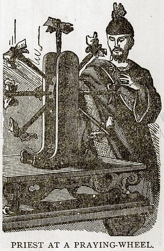 Priest at a Praying-wheel. Illustration from Error