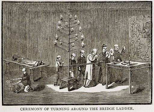 Ceremony of Turning around the Bridge Ladder. Illustration from Error