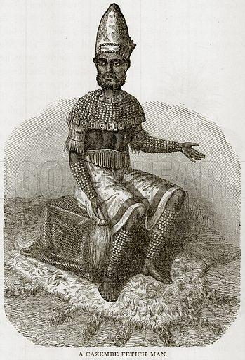 A Cazembe Fetich Man. Illustration from Error