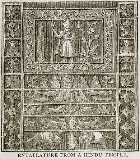 Entablature from a Hindu Temple. Illustration from Error