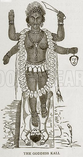 The Goddess Kali. Illustration from Error