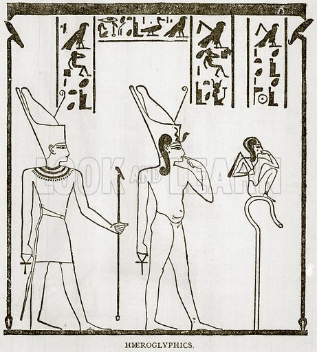 Hieroglyphics. Illustration from Error