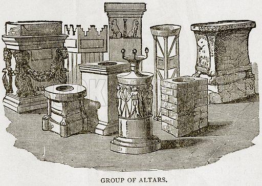 Group of Altars. Illustration from Error