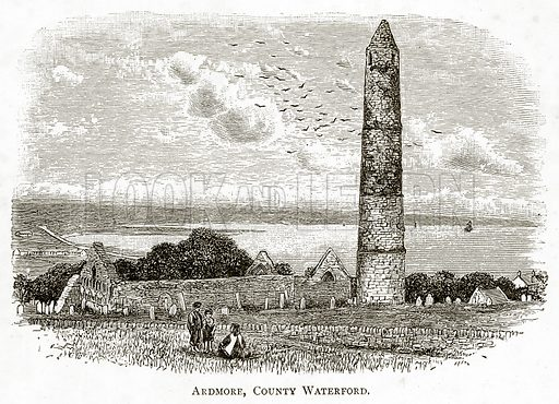 Ardmore, Country Waterford. Illustration from Irish Pictures by Richard Lovett (Religious Tract Society, 1888).