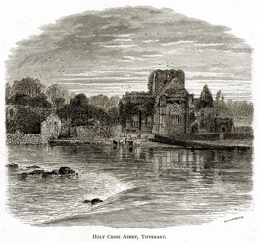 Holly Cross Abbey, Tipperary. Illustration from Irish Pictures by Richard Lovett (Religious Tract Society, 1888).