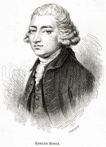 Edmund Burke. Illustration from Irish Pictures by Richard Lovett (Religious Tract Society, 1888).