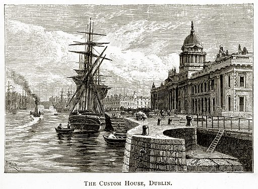 The Custom House, Dublin. Illustration from Irish Pictures by Richard Lovett (Religious Tract Society, 1888).