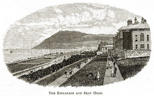 The Esplanade and Bray Head. Illustration from Irish Pictures by Richard Lovett (Religious Tract Society, 1888).