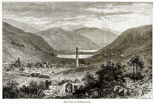 The Vale of Glendalough. Illustration from Irish Pictures by Richard Lovett (Religious Tract Society, 1888).