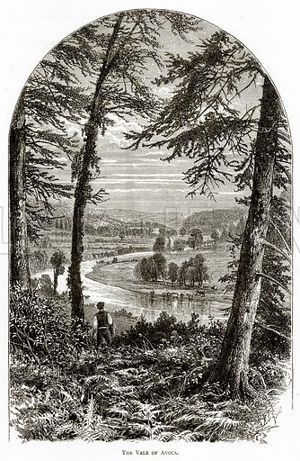 The Vale of Avoca. Illustration from Irish Pictures by Richard Lovett (Religious Tract Society, 1888).