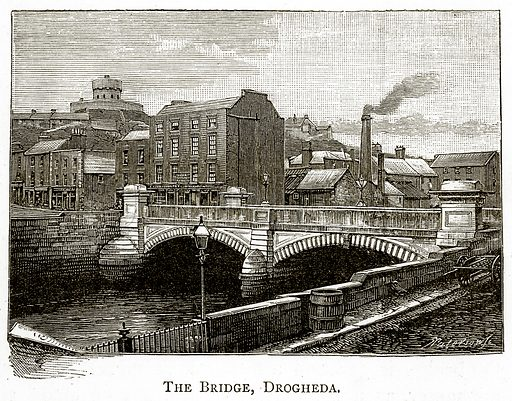 The Bridge, Drogheda. Illustration from Irish Pictures by Richard Lovett (Religious Tract Society, 1888).