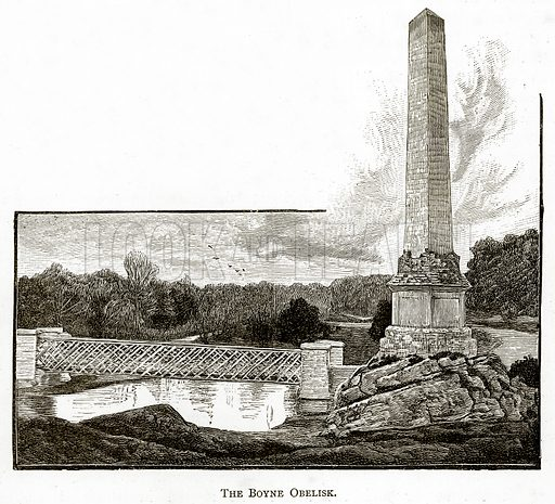 The Boyne Obelisk. Illustration from Irish Pictures by Richard Lovett (Religious Tract Society, 1888).