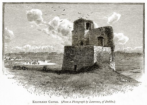 Kilcolman Castle. Illustration from Irish Pictures by Richard Lovett (Religious Tract Society, 1888).