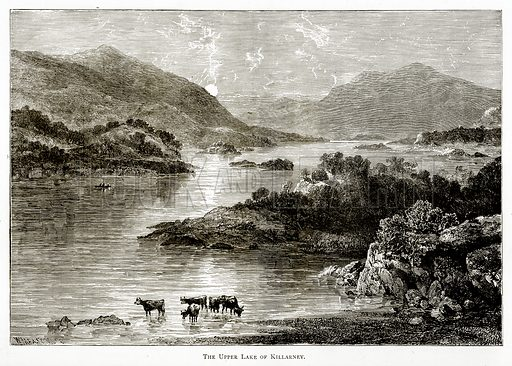 The Upper Lake of Killarney. Illustration from Irish Pictures by Richard Lovett (Religious Tract Society, 1888).