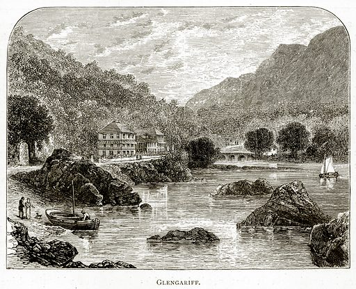Glengariff. Illustration from Irish Pictures by Richard Lovett (Religious Tract Society, 1888).