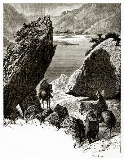 The Pike. Illustration from Irish Pictures by Richard Lovett (Religious Tract Society, 1888).