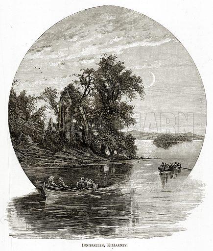 Innisfallen, Killarney. Illustration from Irish Pictures by Richard Lovett (Religious Tract Society, 1888).