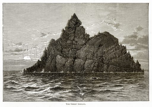 The Great Skellig. Illustration from Irish Pictures by Richard Lovett (Religious Tract Society, 1888).