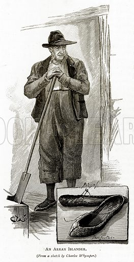 An Arran Islander. Illustration from Irish Pictures by Richard Lovett (Religious Tract Society, 1888).