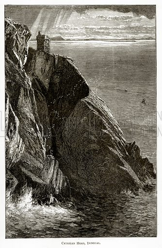 Carrigan Head, Donegal. Illustration from Irish Pictures by Richard Lovett (Religious Tract Society, 1888).