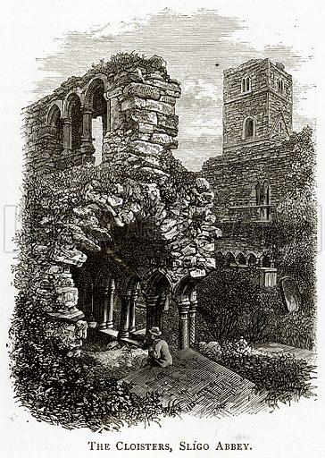 The Cloisters, Sligo Abbey. Illustration from Irish Pictures by Richard Lovett (Religious Tract Society, 1888).