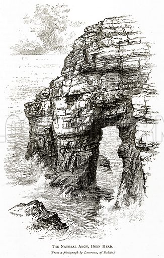 The Natural Arch, Horn Head. Illustration from Irish Pictures by Richard Lovett (Religious Tract Society, 1888).