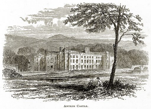 Antrim Castle. Illustration from Irish Pictures by Richard Lovett (Religious Tract Society, 1888).