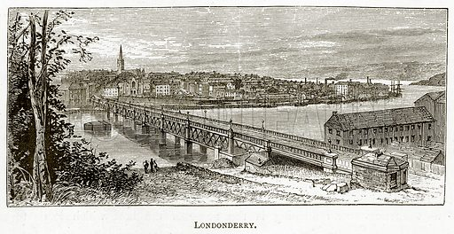 Londonderry. Illustration from Irish Pictures by Richard Lovett (Religious Tract Society, 1888).