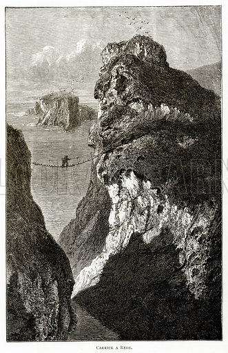 Carrick a Rede. Illustration from Irish Pictures by Richard Lovett (Religious Tract Society, 1888).