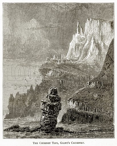 The Chimney Tops, Giant's Causeway. Illustration from Irish Pictures by Richard Lovett (Religious Tract Society, 1888).