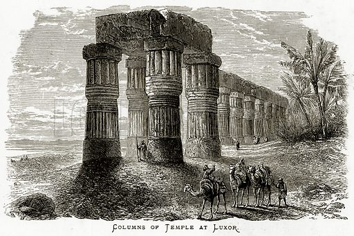 Columns of Temple at Luxor.