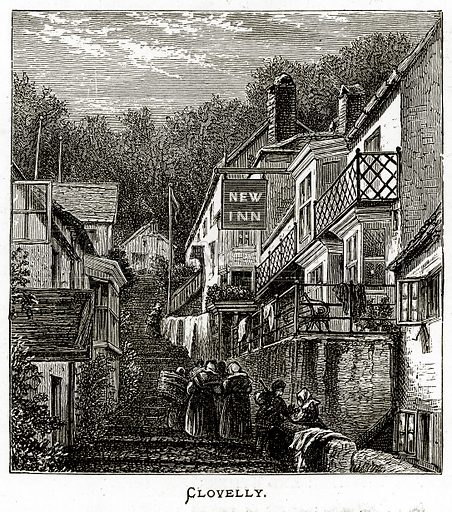 Clovelly. Illustration from Irish Pictures by Richard Lovett (Religious Tract Society, 1888).