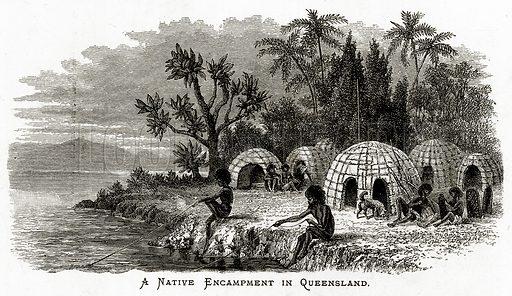 A Native Encampment in Queensland.