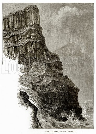 Pleaskin Head, Giant's Causeway. Illustration from Irish Pictures by Richard Lovett (Religious Tract Society, 1888).