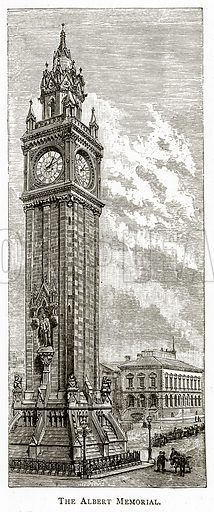 The Albert Memorial. Illustration from Irish Pictures by Richard Lovett (Religious Tract Society, 1888).