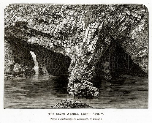 The Seven Arches, Lough Swilly. Illustration from Irish Pictures by Richard Lovett (Religious Tract Society, 1888).