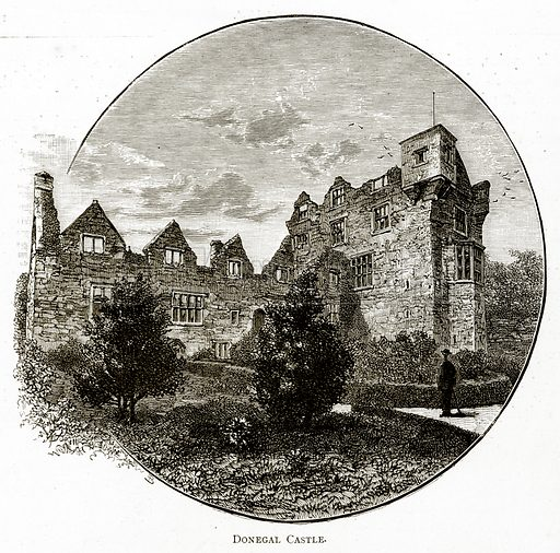 Donegal Castle. Illustration from Irish Pictures by Richard Lovett (Religious Tract Society, 1888).