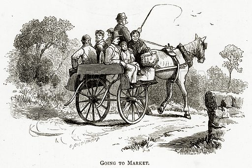 Going to Market. Illustration from Irish Pictures by Richard Lovett (Religious Tract Society, 1888).