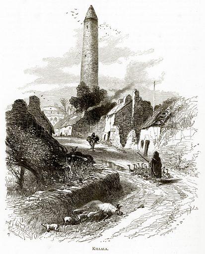 Killala. Illustration from Irish Pictures by Richard Lovett (Religious Tract Society, 1888).
