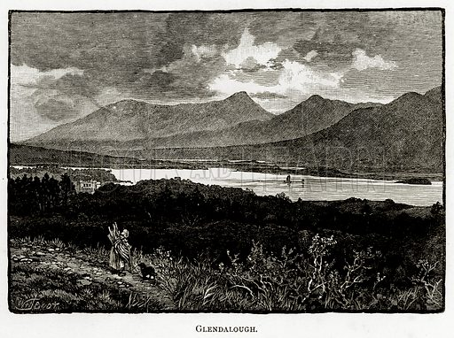 Glendalough. Illustration from Irish Pictures by Richard Lovett (Religious Tract Society, 1888).