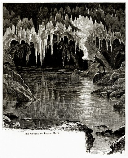 The Outlet of Lough Mask. Illustration from Irish Pictures by Richard Lovett (Religious Tract Society, 1888).