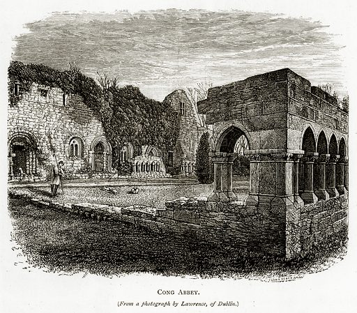 Cong Abbey. Illustration from Irish Pictures by Richard Lovett (Religious Tract Society, 1888).