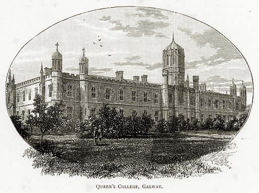 Queen's College, Galway. Illustration from Irish Pictures by Richard Lovett (Religious Tract Society, 1888).