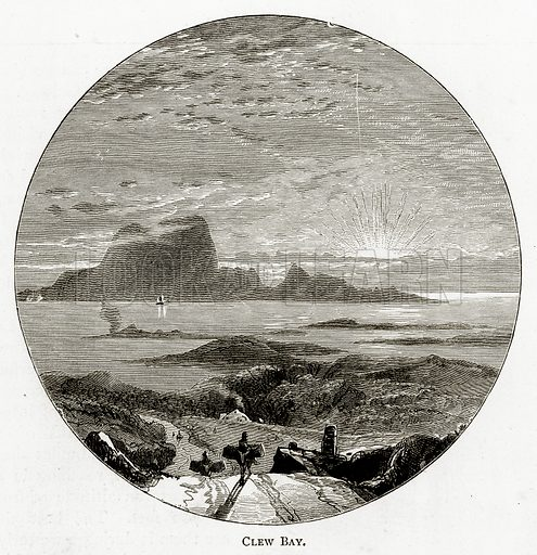 Clew Bay. Illustration from Irish Pictures by Richard Lovett (Religious Tract Society, 1888).