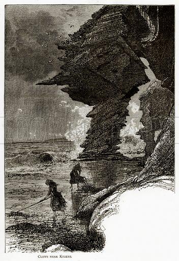 Cliffs near Kilkee. Illustration from Irish Pictures by Richard Lovett (Religious Tract Society, 1888).