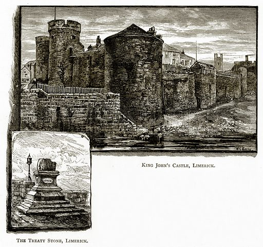 The Treaty Stone, Limerick. King John