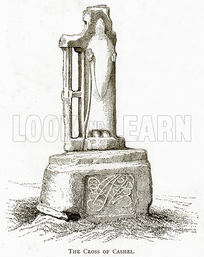 The Cross of Cashel. Illustration from Irish Pictures by Richard Lovett (Religious Tract Society, 1888).