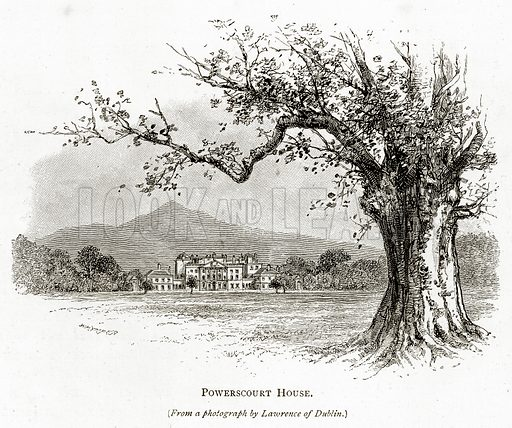 Powerscourt House. Illustration from Irish Pictures by Richard Lovett (Religious Tract Society, 1888).