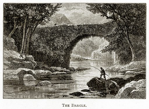 The Dargle. Illustration from Irish Pictures by Richard Lovett (Religious Tract Society, 1888).