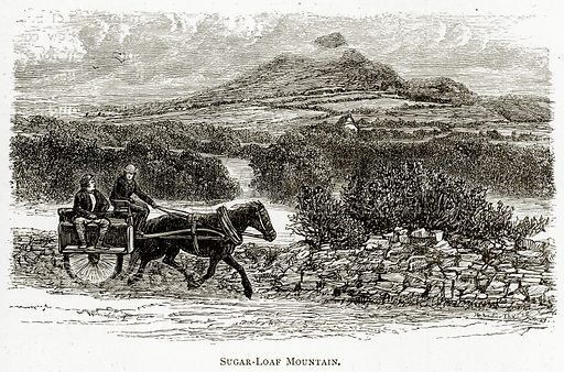Sugar-Loaf Mountain. Illustration from Irish Pictures by Richard Lovett (Religious Tract Society, 1888).
